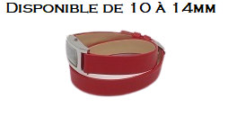 Bracelet montre double tour de 10 à 14mm-Rouge